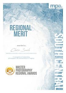 MPA merit winners certificate