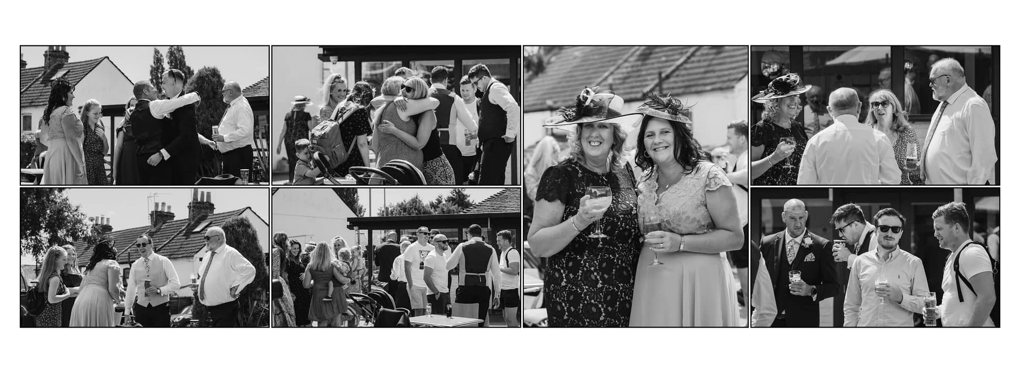 collection of photographs showing people drinking