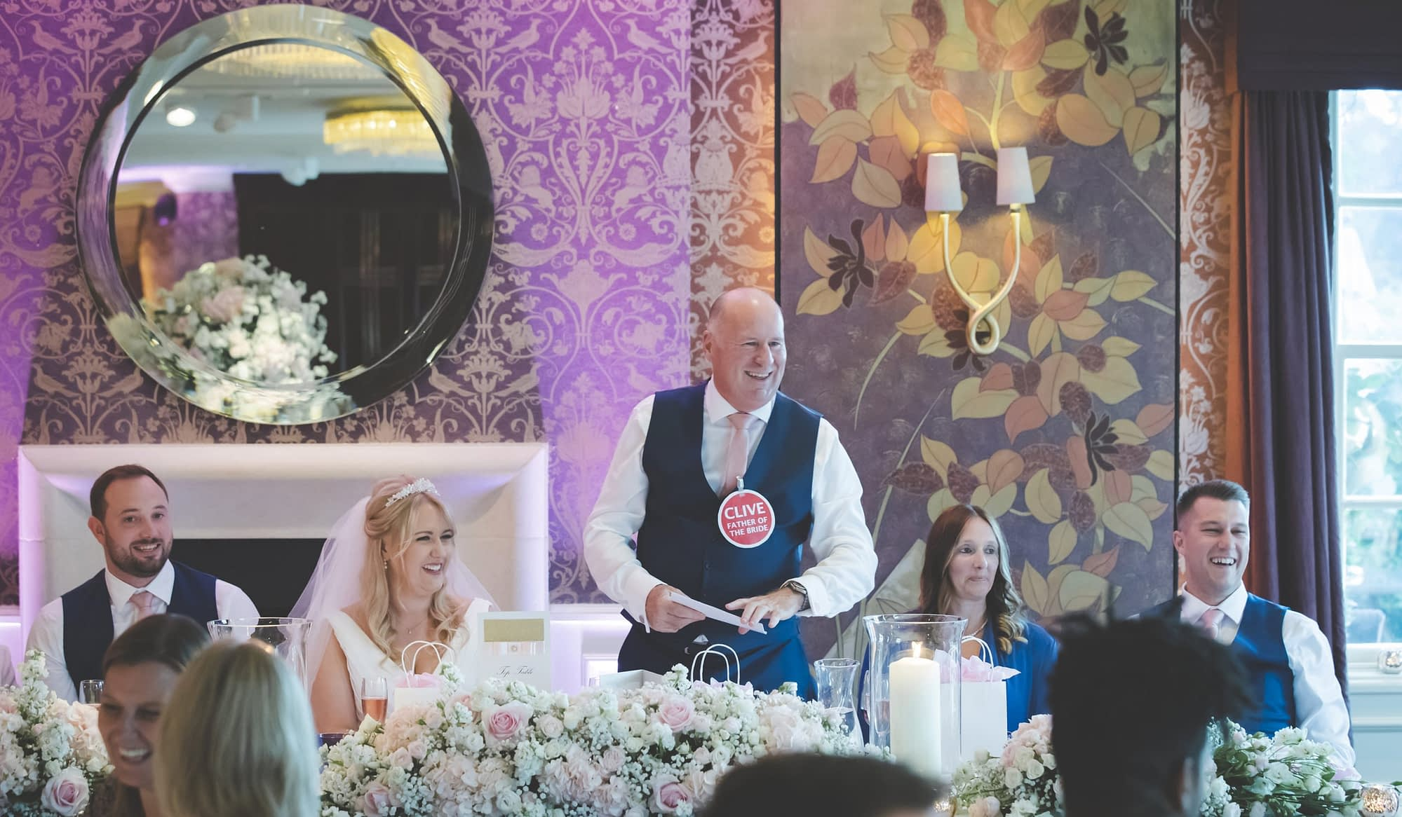 dad stand up to make his wedding speech