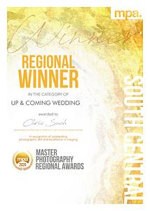 MPA category winner certificate